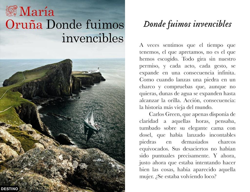 Portada de «Donde fuimos invencibles», de María Oruña
