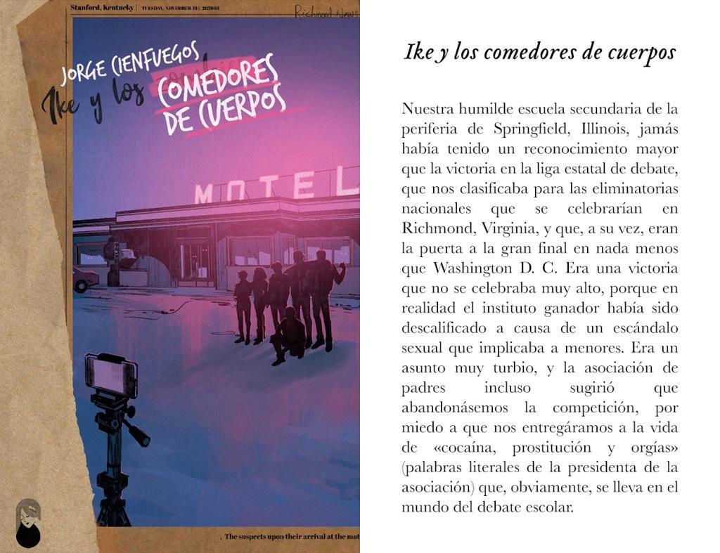 Portada de «Ike y los comedores de cuerpos», de Jorge Cienfuegos