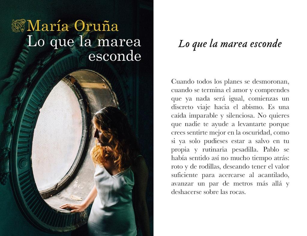Portada de «Lo que la marea esconde», de María Oruña