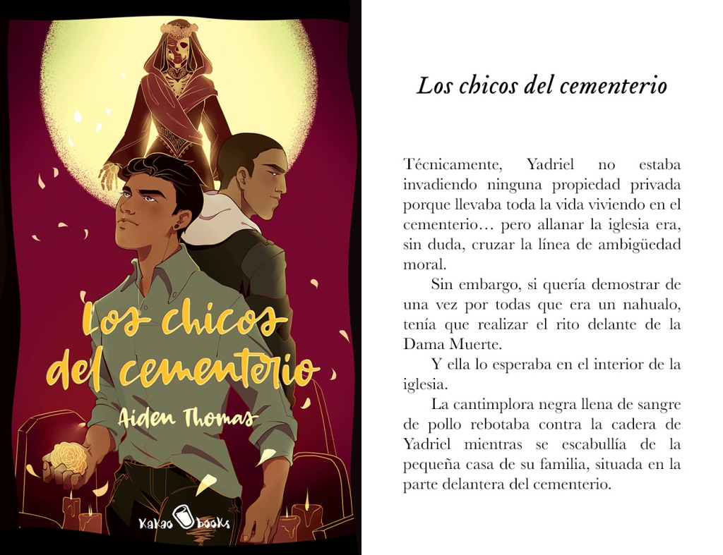 Portada de «Los chicos del cementerio», de Aiden Thomas